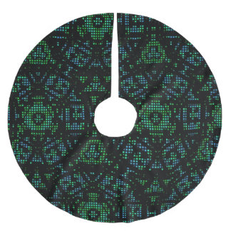 Modern abstract decorative pattern brushed polyester tree skirt