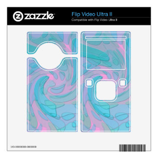 Modern Abstract Design in Blues and Pinks Flip Ultra II Decal