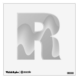 Modern Abstract Design in Light Gray. Wall Skins