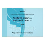 Modern Abstract Design. 3.5x5 Paper Invitation Card