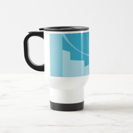 Modern Abstract Design. 15 Oz Stainless Steel Travel Mug