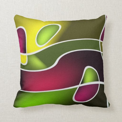 Modern abstract design throw pillow