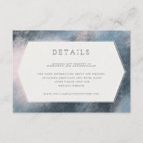 MODERN ABSTRACT DETAILS CARD(NAVY/BLUSH) ENCLOSURE CARD