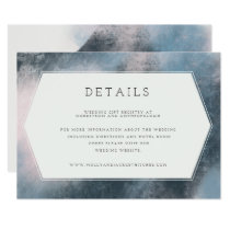 MODERN ABSTRACT DETAILS CARD(NAVY/BLUSH) INVITATION