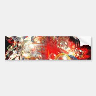Modern Abstract Digital Art Bumper Sticker