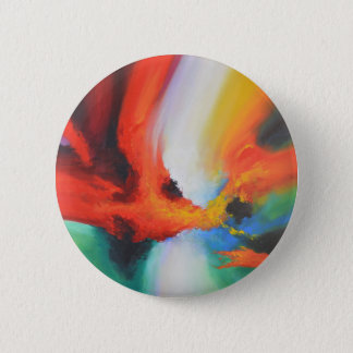 Modern Abstract Expressionism Acrlylic Painting Pinback Button