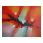 Modern Abstract Expressionism Acrlylic Painting Poster