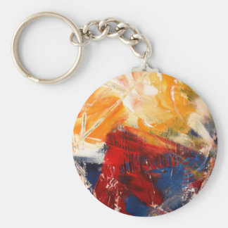 Modern Abstract Expressionism Keychain