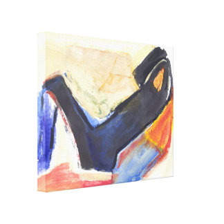 Modern Abstract  Expressionist Figure Canvas Print