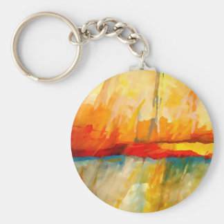 Modern Abstract Expressionist Painting Keychain