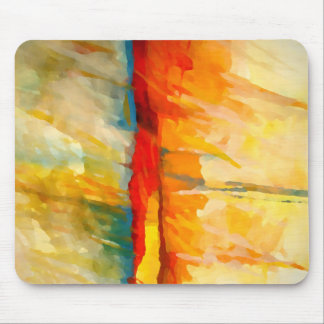 Modern Abstract Expressionist Painting Mouse Pad