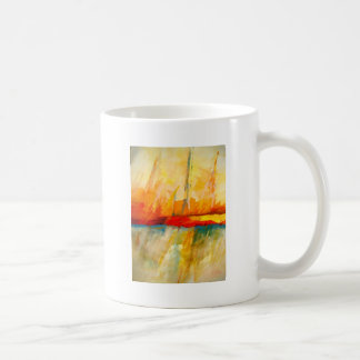 Modern Abstract Expressionist Painting Mugs