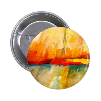 Modern Abstract Expressionist Painting Pinback Button
