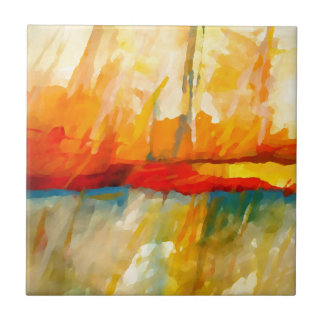 Modern Abstract Expressionist Painting Tile