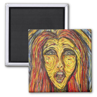 Modern Abstract Face Magnet