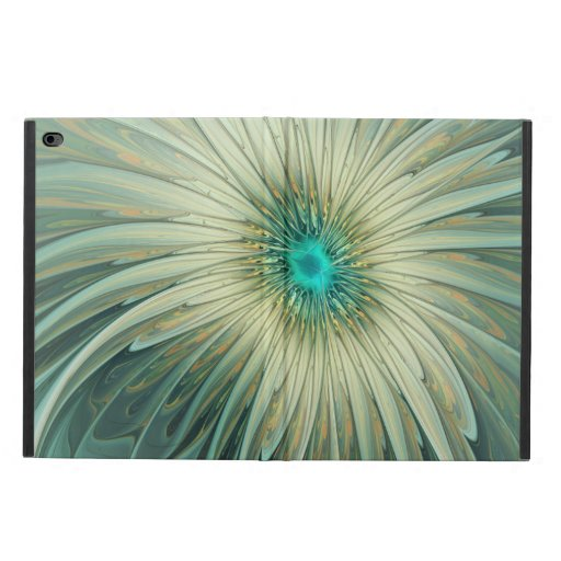 Modern Abstract Fantasy Flower Turquoise Wheat Powis iPad Air 2 Case