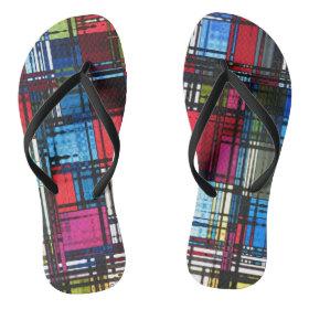 Modern Abstract Flip Flops