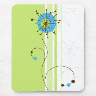 Modern Abstract Floral Design - Mousepad