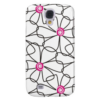 Modern Abstract Floral Pattern Galaxy S4 Cases