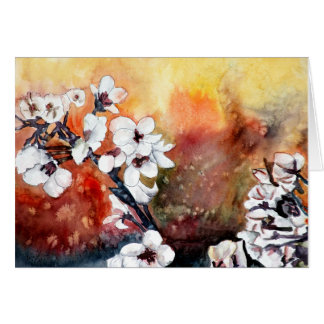 modern abstract flower asian oriental art painting card