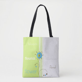 Modern Abstract Flower Design - Tote Bag