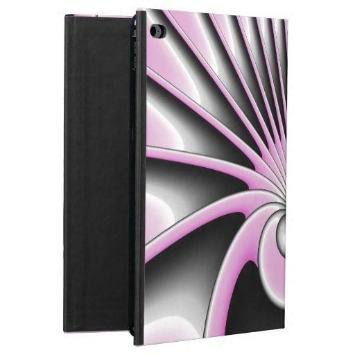 Modern Abstract Fractal Art Pink Gray Black Figure Powis iPad Air 2 Case