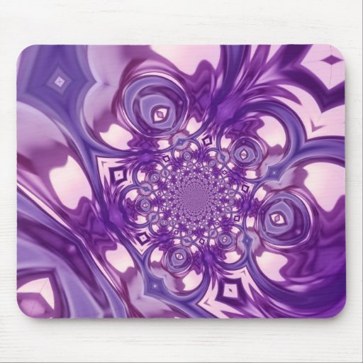 Modern Abstract Fractal Mouse Pad