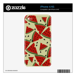 Modern Abstract Fruit Watermelon  Design iPhone 4 Skins