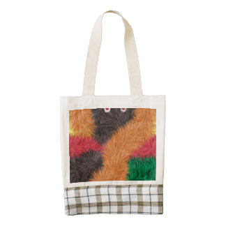 Modern abstract furry person zazzle HEART tote bag