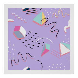 Modern Abstract Geometric Artistic Pattern 2 Poster