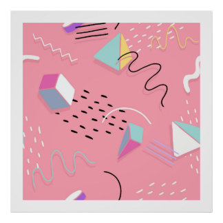 Modern Abstract Geometric Artistic Pattern 3 Poster