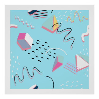 Modern Abstract Geometric Atristic Pattern Poster