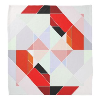 Modern Abstract Geometric Design Bandana