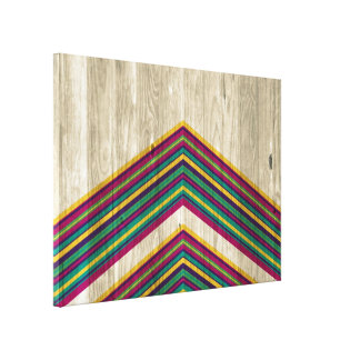 Modern Abstract Geometric Pattern on Wood Canvas Prints