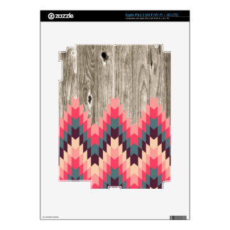 Modern Abstract Geometric Pattern on Wood iPad 3 Decal