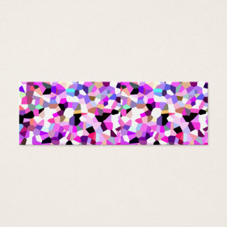 Modern Abstract Geometric Pattern Pink Teal Pastel Mini Business Card