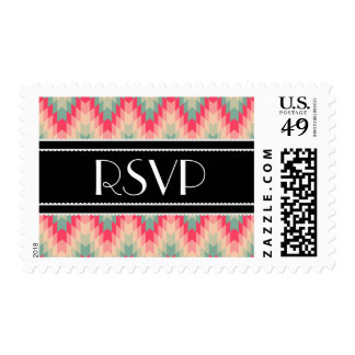 Modern Abstract Geometric Pattern Postage