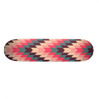 Modern Abstract Geometric Pattern Skateboard