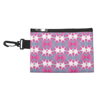 Modern abstract geometrical pink teal star pattern accessory bag