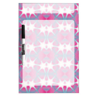 Modern abstract geometrical pink teal star pattern dry erase board