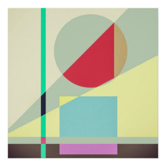 Modern Abstract Geometrical Print