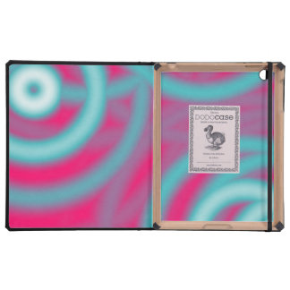 modern abstract girly pattern hot pink Fuschia iPad Folio Cases