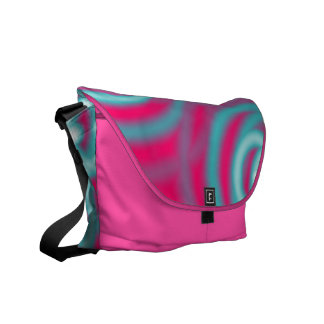 modern abstract girly pattern hot pink Fuschia Courier Bags