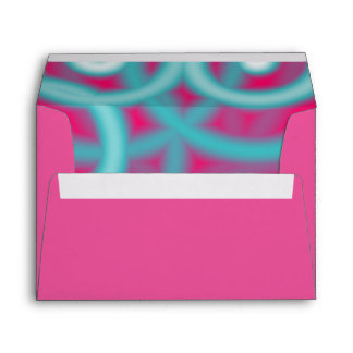modern abstract girly pattern hot pink Fuschia Envelope