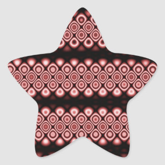 Modern, abstract glowing circles star sticker