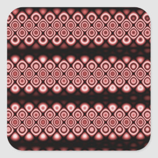 Modern, abstract glowing circles square sticker