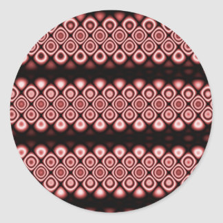 Modern, abstract glowing circles classic round sticker