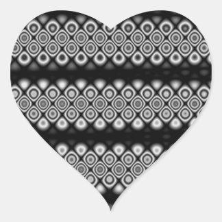 Modern, abstract glowing circles heart sticker