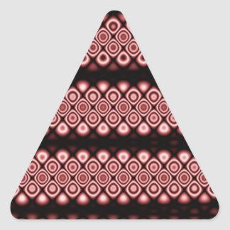 Modern, abstract glowing circles triangle sticker