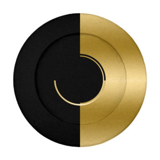 Modern Abstract Gold & Black Geometric Design Button Covers